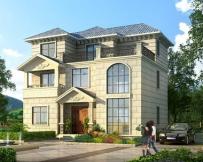 永云AT068三层复式客厅带露台豪华别墅设计全套图纸12m×10m
