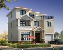 永云AT082三层带车库大露台别墅设计全套建筑施工图纸11.5m×10.1m