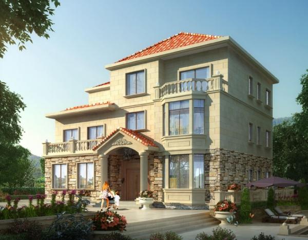 永云别墅AT085三层复式带露台豪华别墅设计全套施工图纸15.8m×12m