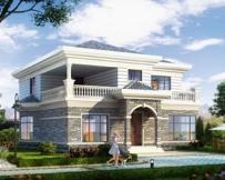 永云AT073二层精品简洁大气别墅设计全套施工图纸12mx13.5m