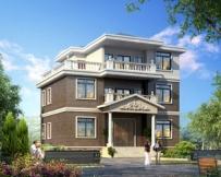 永云AT199三层农村豪华别墅设计全套施工图纸12mx8.9m