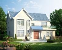 永云别墅AT076二层现代化小康别墅设计全套施工图纸13.5mx9m