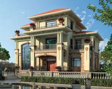 永云别墅AT268三层高端豪华复式别墅建筑设计施工图纸15.3mx10m