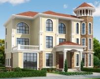 永云别墅AT279三层带八角窗简欧复式别墅施工图纸18.3mx12m