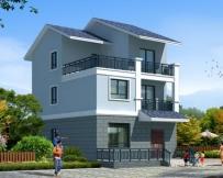 永云AT1617三层新农村简洁实用精致户型别墅建筑设计图纸7.8mx11.2m