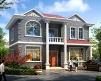 永云别墅AT1618二层精致实用农村别墅建筑设计图纸11.8mx8.5m