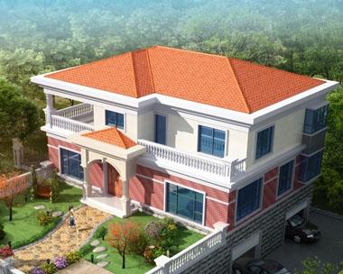 永云别墅AT1620二层带地下室别墅建筑设计图纸13.8mx10m