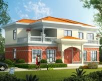 永云别墅AT1676简洁大气二层实用别墅建筑设计图纸16.9mx10m
