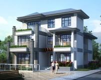 永云别墅AT1632带车库三层现代简洁别墅建筑设计图纸11.6mx15.8m