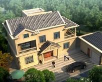 永云别墅AT1689二层简洁实用L形小别墅设计图纸15.56mx8.2m