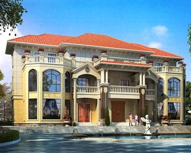 永云别墅AT1693三层豪华带阁楼双拼别墅设计图纸27.4mx18.8m
