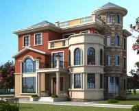 永云别墅AT1698三层私人定制复式别墅设计图纸13.9mx14.3m