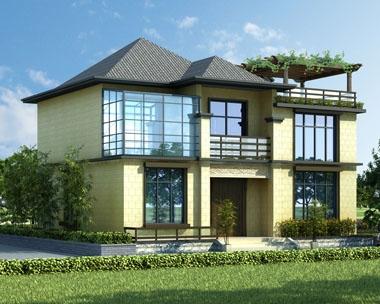 永云别墅AT1720现代二层简洁亚洲风格别墅设计施工图纸11.5xm9.5m