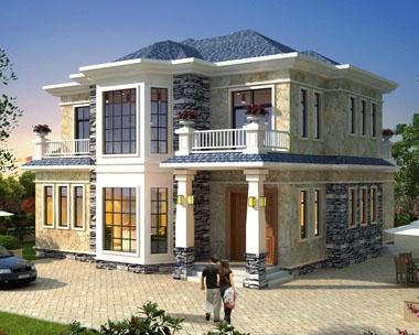 【带装修图纸】AT1737二层简欧私家别墅设计全套图纸13mx14m