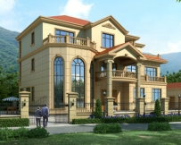 【送装修图】AT1631新农村豪华复式楼三层别墅全套图纸17.7mX13.2m