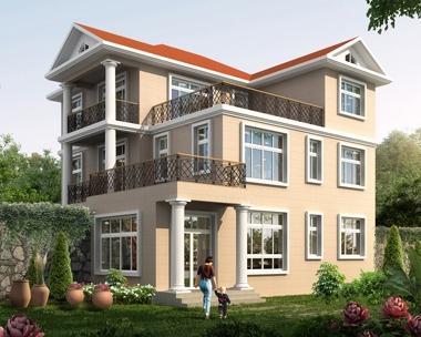 AT1771三层漂亮现代风格带屋顶花园复式楼别墅设计图纸12.6mX13.5m