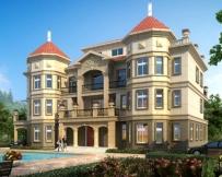 AT1768四层高端大气复式楼大型别墅建筑设计全套施工图纸26.4mX15.5m
