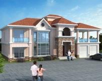 AT1758简洁漂亮二层带双车库复式楼别墅全套施工图纸22.5mX11.9m