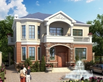AT1793二层私人农村自建简洁实用别墅施工图纸12.6mX10.5m