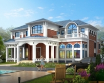 永云别墅AT1606豪华二层带双车库大型别墅设计施工图纸19.8mx20.1m