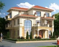 AT1797私人豪华三层复式楼别墅建筑设计全套图纸14.8mX12.1m