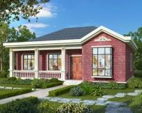 永云别墅AT1805简单漂亮一层带走廊别墅设计施工图纸14.1mX12m