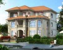 AT1810三层/室内错层豪华私家别墅设计全套图纸14.6mX15.6m