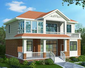AT1811休闲走廊/阳光房二层私人别墅设计图纸11.7mX10.3m