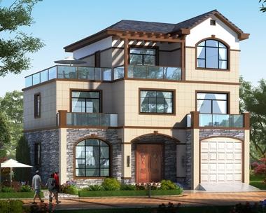 2020新款AT1820现代新中式三层带车库别墅设计图纸12.5mX12.7m