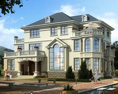 AT1827简欧风格2020新品三层带堂屋私人豪华别墅设计施工图纸20mX12.6m