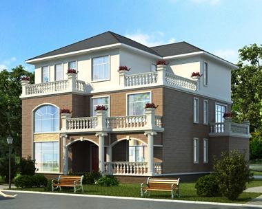 2020新款AT1830新农村简约三层复式别墅全套施工图纸16mX16m