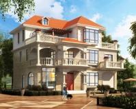 简欧新品AT1840三层带车库及屋顶花园别墅设计施工图纸15mX11.4m