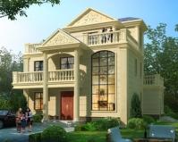 2020新款欧式AT1836三层复式楼小别墅建筑设计图纸12.6mX11m