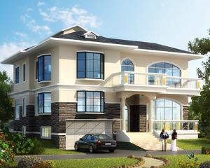 AT1637简约二层带半地下车库错层别墅设计全套施工图纸14.3mX12.8m