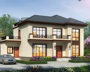AT1895简约二层新中式风格别墅设计全套施工图纸11.9mX11.3m