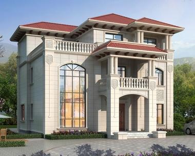 AT1915端庄大气简欧三层复式楼别墅设计全套施工图纸13.6mX11.3m