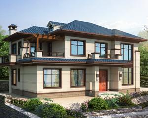 AT1920二层经典新中式风格别墅设计全套施工图纸16mX10.3m
