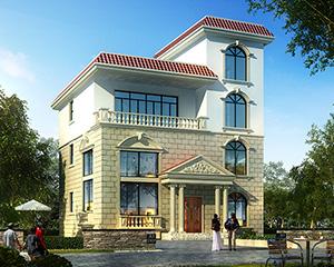 占地140平米AT1615农村私人四层住宅别墅建筑设计图纸12mx12.6m