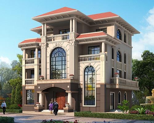 永云别墅AT218四层带佛堂复式豪华别墅设计全套施工图纸16m×16.8m