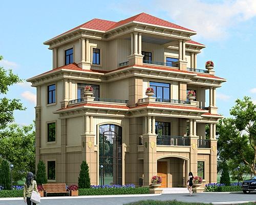 永云别墅AT1670四层高端豪华欧式别墅建筑施工图纸14.4mx10.4m