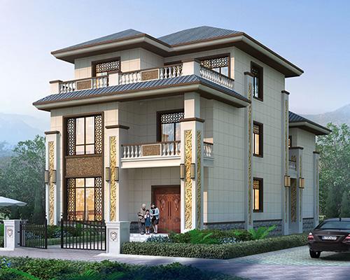 上饶新中式风格/带内庭院/两开间/私家别墅定制效果欣赏
