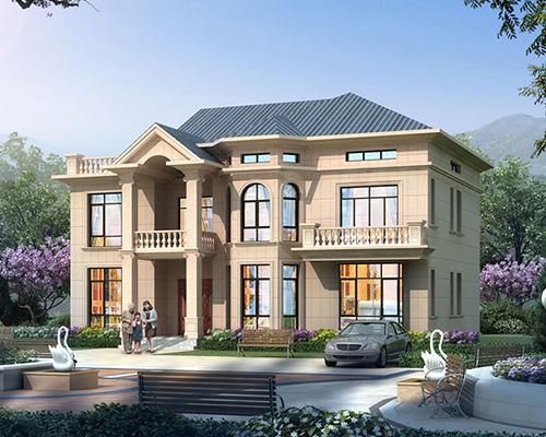 两层半/屋顶大露台/漂亮八角窗/简欧别墅个性设计案例