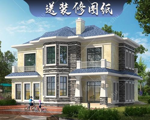 轻奢简欧二层农村自建小别墅158平户型洋房全套设计施工图纸2837