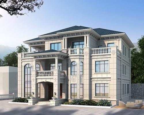 【实地设计】南昌进贤长山宴魏先生280平米三层豪华别墅定制设计