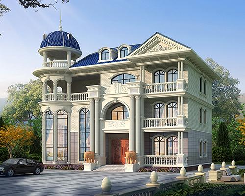 赣州廖先生漂亮圆顶欧式风格高端三层别墅设计欣赏
