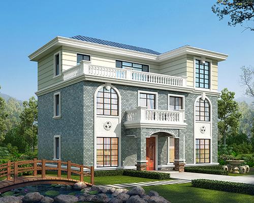 河北李先生三层简洁实用带大露台自建小别墅设计欣赏