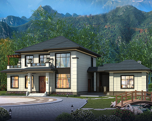 16×14新中式200平两层别墅株洲荷塘区私人订制案例